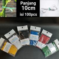 8cm Kabel Ties Twist tie perekat pengikat klip kabel Bingkisan Parcel