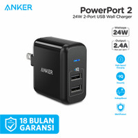 ORIGINAL Anker Wall Charger Powerport 2 Foldable - A2141