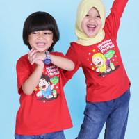Kaos Anak Afrakids Lengan Panjang Alhamdulillah I Finished - Merah