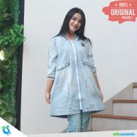 Dress Atasan Wanita Denim Jeans Keren Original - Inficlo INF 839 - M