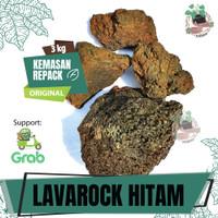 Batu Lava Rock Lavarock Hitam Media Filter Aquascape Aquarium isi 3 Kg
