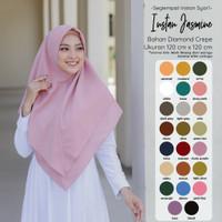 ISRM Hijab Khimar Instan Jasmine - Bahan Diamond Crepe Premium Adem