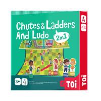 TOI Chutes And Ladders Board Game And Ludo 2 In 1 / Mainan Ular Tangga