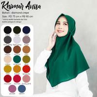 ISRM Khimar Anisa - Hijab Instan Dewasa Bahan Diamond Crepe Premium