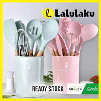 Sillicone Utensil Set 11 Pcs Peralatan Dapur Baking Sutil Spatula