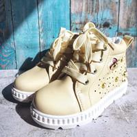boots anak pearl size 26-30 - krem, 26