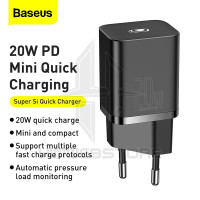 BASEUS Kepala Charger Adaptor PD 20W Super Si Fast Charging Iphone