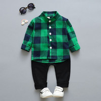 Baju Setelan Kemeja Anak Laki-Laki 1 - 4 Tahun Import . SB-001
