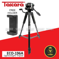 Tripod TAKARA ECO-196A Lightweight Tripod With Pouch/Tas/Bag