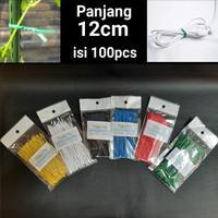 12cm Kabel Ties Twist tie perekat pengikat klip kabel Bingkisan Parcel