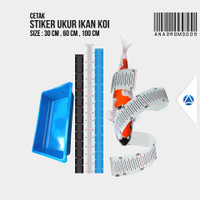 Stiker Bak Ukur Koi   30-60-100cm   Anadrom