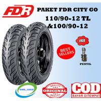 Paket Ban Motor FDR City100/90 &110/90 ring 12 untuk motor scoopy
