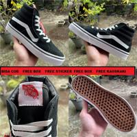 Sepatu Vans Sk8 Hitam Premium Quality - Hitam, 36