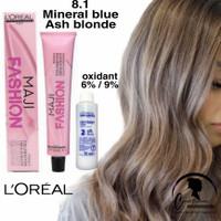 Loreal Majirel 8.1 Light Ash blonde / pewarna rambut / hair color