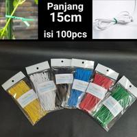 15cm Kabel Ties Twist tie perekat pengikat klip kabel Bingkisan Parcel
