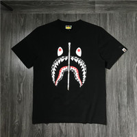 t-shirt bape mirror bape shark kualitas bahan mirror 1:1 terbaik