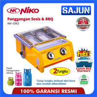 Niko NK-GR2 BBQ Grill Gas Panggangan Sosis Kompor 2 Tungku NKGR2