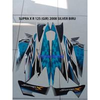 Striping Stiker Motor Honda Supra X R 125 2008 silver Biru