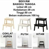 Ikea Bangku Tangga Step Stool Kayu Aspen Tinggi 50 Cm 3 Warna Pilihan