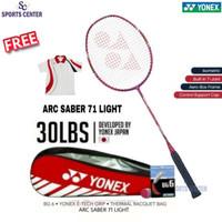 Full Set Raket Badminton Yonex Arcsaber / Arc Saber 71 light 5U G5