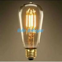 Lampu Filamen LED ST64 Bulb 4W bohlam 4 w watt pijar edison cafe OVAL - ST64 TEH, Kuning