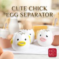HOMU - KIKARU Ceramic Egg Pemisah Kuning Putih Telur / Pemisah Telur - Merah