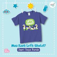 Kaos Anak Afrakids Let's Sholat - Navy