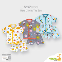 NEW Velvet Junior Here Comes the Sun Setelan Baju Pendek Pakaian Anak - S