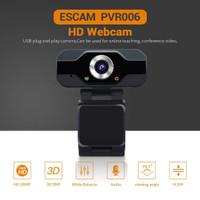 ESCAM HD Webcam Desktop Laptop with Microphone Video Conference 2MP 10