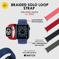 Solo Braided Loop Strap Apple Watch 6 5 4 3 2 1 iWatch Band 44 40 42 3