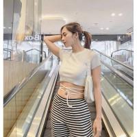 Crop Top Silang Wanita Baju Wanita Korean Style Crop Top Tali Premium