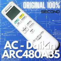 Remote AC Daikin ARC480A35 Original Second Murah