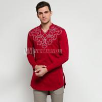 VM Gamis Jumbo Baju Koko Merah Maroon Panjang Baju Koko Pria