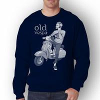 Baju Pria VESPA Lengan Panjang T-shirt Distro/Sweatshirt Pria Terbaru