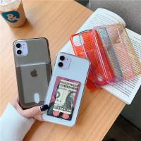 Soft Case Card Slot Anticrack iphone 11 12 PRO MAX X XS XR 7 8 PLUS