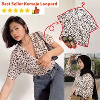 Atasan Kemeja Motif Leopard / Macan / Baju Harimau Lengan Pendek