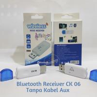 Bluetooth Receiver CK 06 Tanpa Kabel Aux/Jack