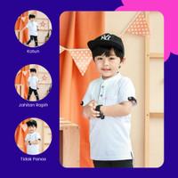 Baju Kemeja Koko Anak Laki Laki Terbaru Katun 1 2 3 4 5 6 Tahun Putih