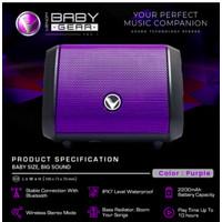 VENOM BABY GEAR VBG-1 Speaker Bluetooth WTS Conection IPX7 Waterproof - Ungu