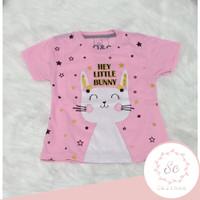 baju atasan / kaos anak perempuan little bunny uk 1-10 tahun