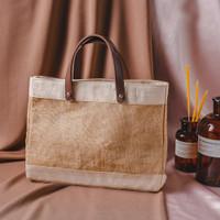 Tas Goni Goody Bag Kanvas Kulit Souvenir Hampers - Tote Bag Kombinasi