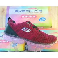 RAMADAN SALE!!! Sepatu Wanita Skechers-Air flyknit - Fuxia, 37