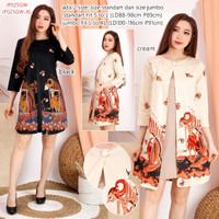 Baju Batik mini dress modern wanita   Dress katun formal casual murah