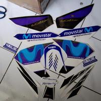 striping sticker Polet Vixion 2014 Movistar putih biru