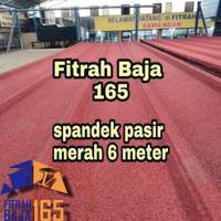 ATAP SPANDEK/SEPANDEK PASIR MERAH 6 METER