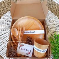 hampers lebaran kayu mahoni (free kartu ucapan)