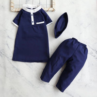 Setelan Baju Koko Gamis Anak Bayi Laki Laki Usia 1-4Tahun Pakistan