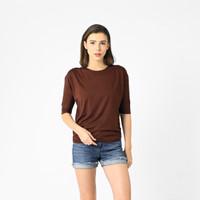 LEMONE 169PS Rayon Spandek Baju T-shirt Kaos Wanita Polos