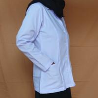 Baju dinas putih jumbo wanita/L5 (Ld 120cm) untuk ASN/PNS, PPL, Guru