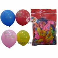balon latex karakter spiderman,doraemon,hello kitty,cars mix isi 100